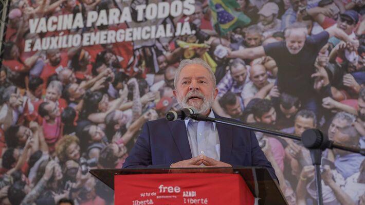 Entrevista coletiva do ex-presidente Lula em São Bernardo do Campo, em 10/03/2021