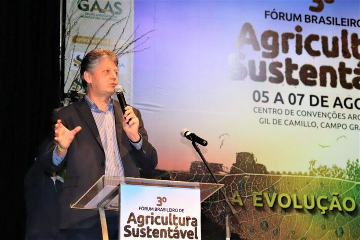 Secretário Jaime Verruck durante o 3º Fórum Brasileiro de Agricultura Sustentável, em 2019