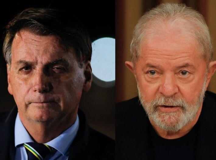 Pesquisa XP/Ipespe mostra empate técnico entre Bolsonaro e Lula nos dois turnos