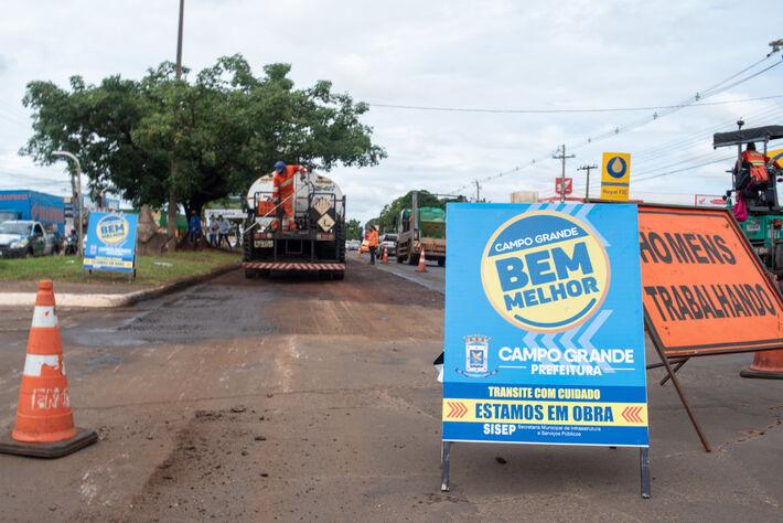 Região que começa na rotatória das av. Bandeirantes e Manoel da Costa Lima, ganhará implantação de faixa exclusiva de ônibus, rente ao canteiro central.