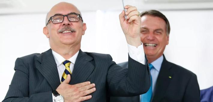 Milton Ribeiro e Jair Bolsonaro -