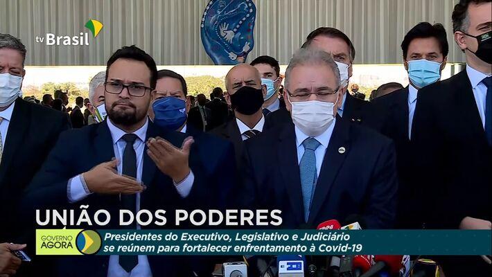 Queiroga fala sobre medidas tratadas com governadores em presidentes dos três poderes