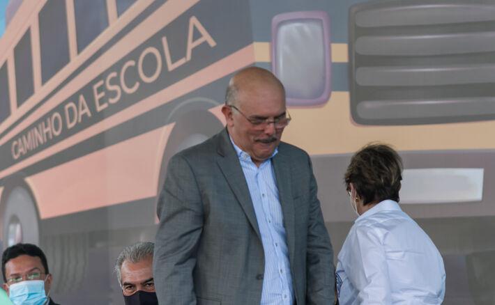 Ministro da Educação, Milton Ribeiro durante evento neste 8 de março em Campo Grande (MS)