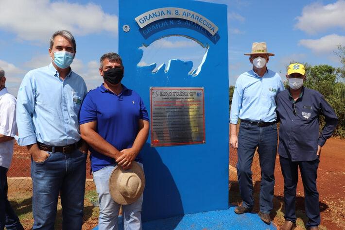 Primeira granja de suínos a receber ração líquida