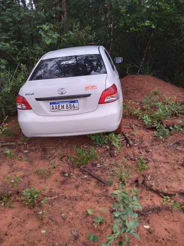 Carro usado pelos suspeitos