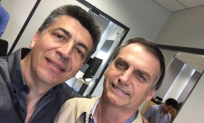 Laterça é bolsonarista e essa imagem foi feita durante a campanha de 2018.