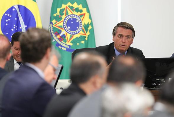 Bolsonaro durante com o Conselho de Governo
