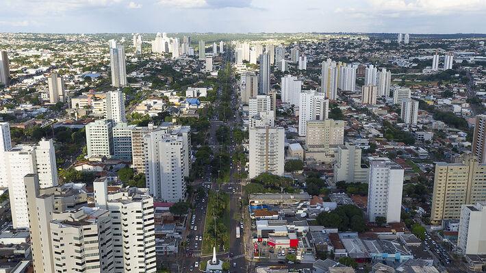 Vista aérea de Campo Grande (MS).