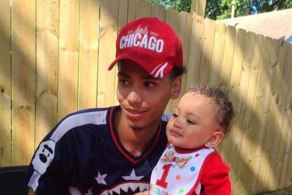 Daunte Wright e o filho de 2 anos