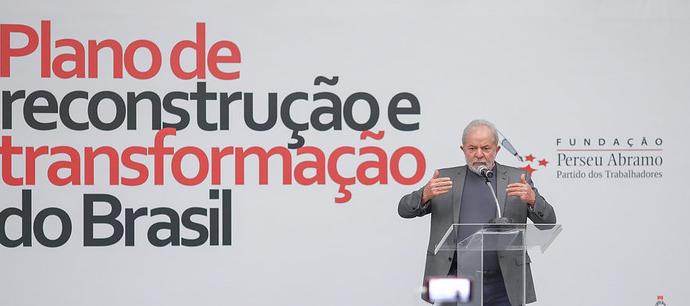 """Seminário """"Reconstruir e Transformar o Brasil"""", promovido pela Fundação Perseu Abramo e pelo PT, nesta segunda-feira (19), em São Bernardo do Campo."""