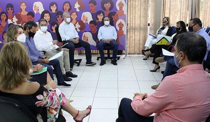 Reunião com comerciantes realizada durante a Pandemia