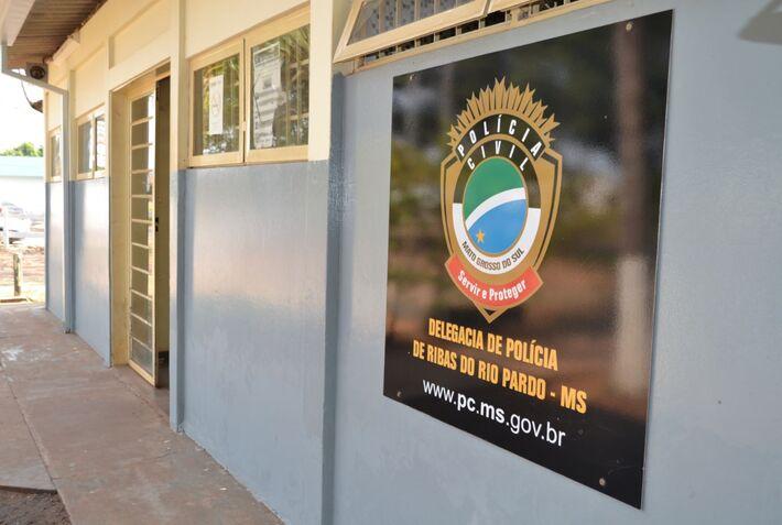 Fachada da Polícia Civil de Ribas