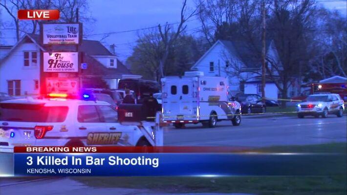 Tiroteio em taberna no Wisconsin, que deixou três feridos, foi o primeiro ataque armado de ontem (18.abr.2021)