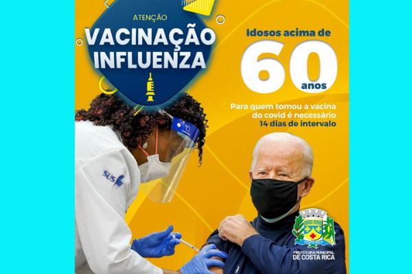 A imagem de Joe Biden que incentiva campanha de vacinação contra Influenza em MS.