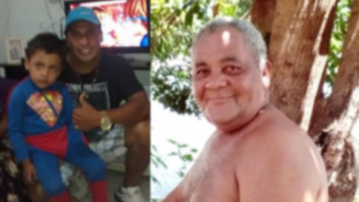 Elias Figueiredo da Silva, de 58 anos, Marcelo Ortiz da Silva, 42 anos, e o filho de Marcelo, de 7 anos.