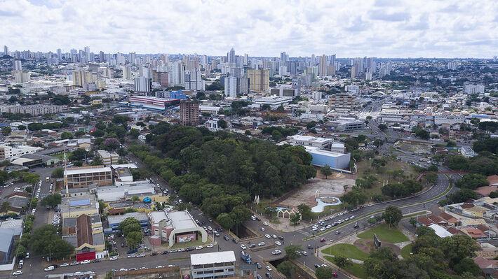 Região central de Campo Grande.