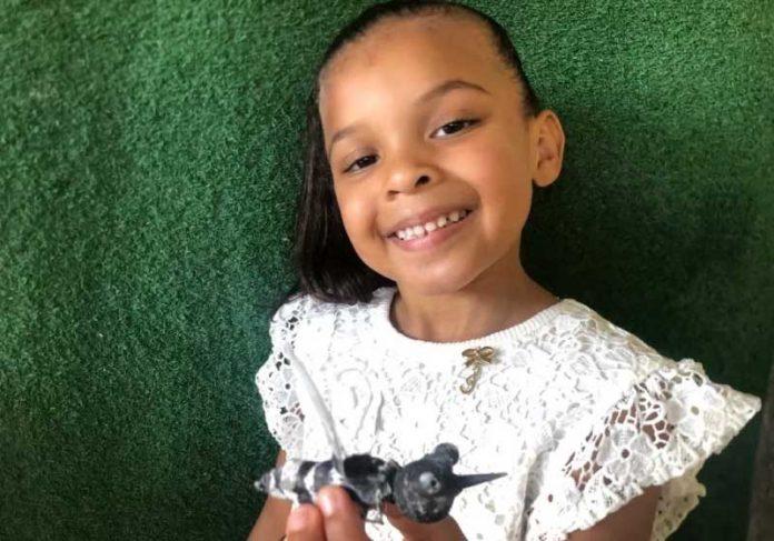 A pequena Maitê, de 5 anos