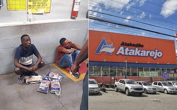 Seguranças pediram R$ 700 para liberarem tio e sobrinho. Em apuração da PC sobre furto de carne, funcionários negaram ocorrido