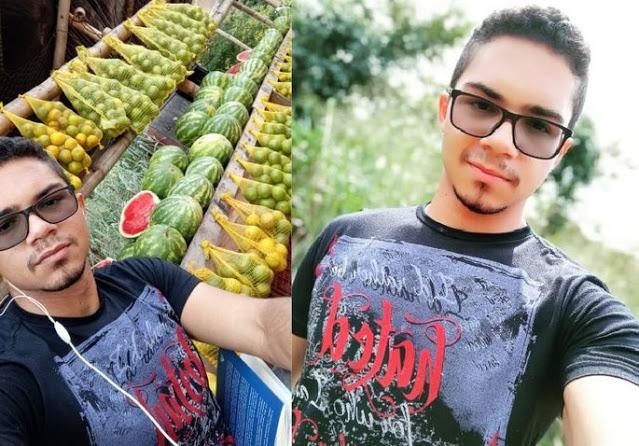 Esse é Kayan na barraca de melacia.
