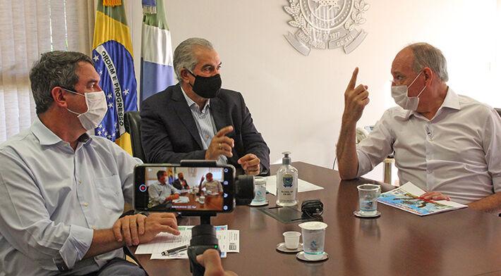 Investimentos em corredores logísticos foram anunciados na 3ª feira (04.mai.2021), durante reunião de Azambuja com prefeito de Ponta Porã