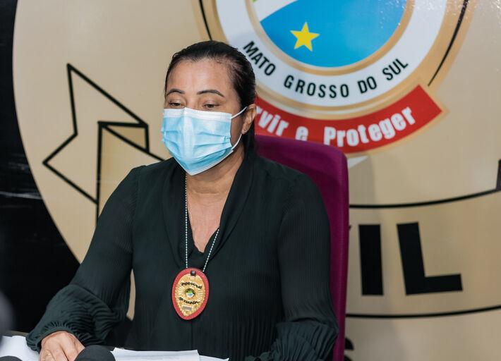 Essa é a delegada Joilce Ramos, da Deam.