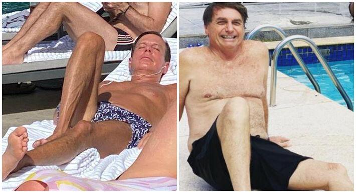 """""""Ele dorme sonhando com minha calça apertada e acorda pensando na minha sunga apertada. É muito amor"""", ironizou o governador de São Paulo em resposta a críticas do presidente."""