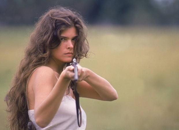Cristiana Oliveira como a Juma Marruá de Pantanal.