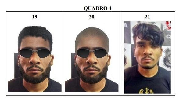 Polícia divulgou possíveis aparências que o criminoso pode adotar em sua tentativa de fuga