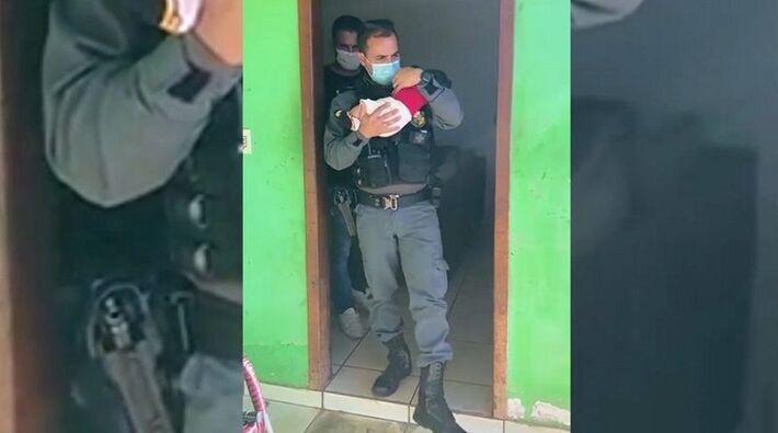 PM resgatou criança em boca de fumo e Pontes Lacerda.