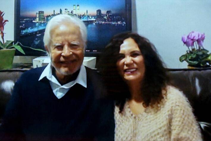 Cid Moreira e Fátima Sampaio - Foto: Globo
