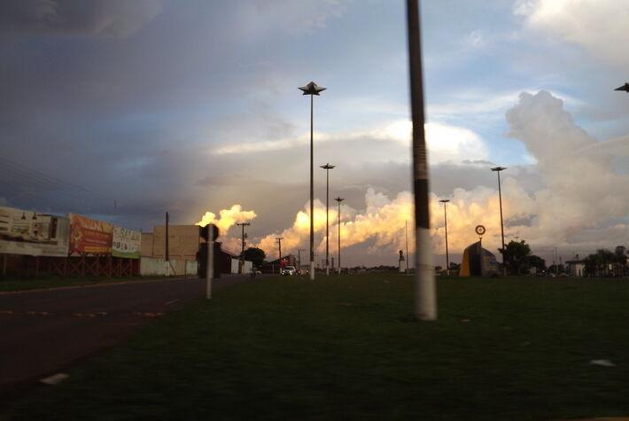 Clima em  Ponta Porã - MS. Foto: Magaly Maia