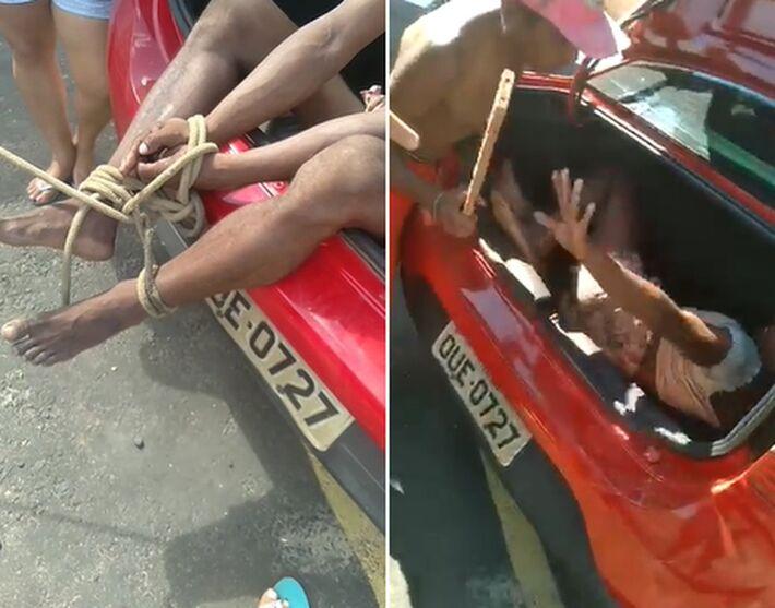 Vídeo mostra travesti sendo agredida diante de Guardas Municipais de Teresina  Foto: Reprodução
