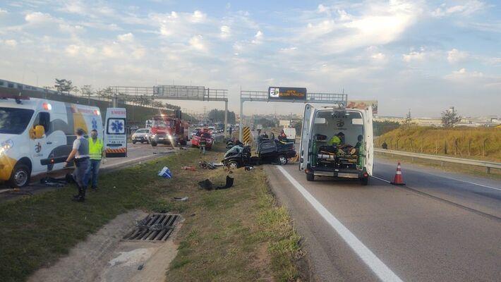 Acidente grave aconteceu na tarde desta quarta-feira (21) (Foto: Polícia Rodoviária)