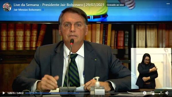 Entre os participantes da transmissão está incluso também o ministro da Justiça, Anderson Torres.