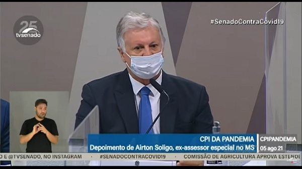 Casacavel depôs à CPI em 05 de agosto, por requerimento do senador Randolfe Rodrigues.