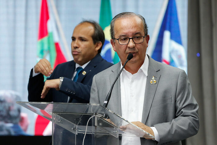 Joinville-SC, 06/08/2021) Palavras do Senador Jorginho Mello. Foto: Alan Santos/PR
