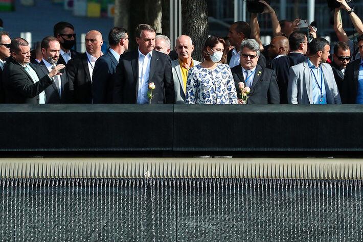 No dia do diagnóstico de Queiroga, comitiva visitou o memorial One World Trade Center.