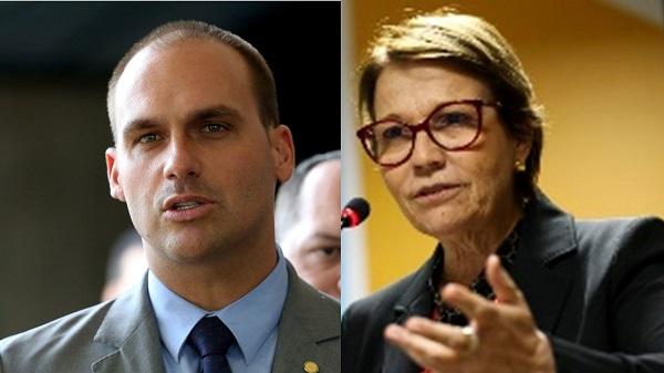 """Depois de Queiroga, é a vez de """"filho 03"""" e ministra da Agricultura diagosticados com Covid-19 no círculo de Bolsonaro."""