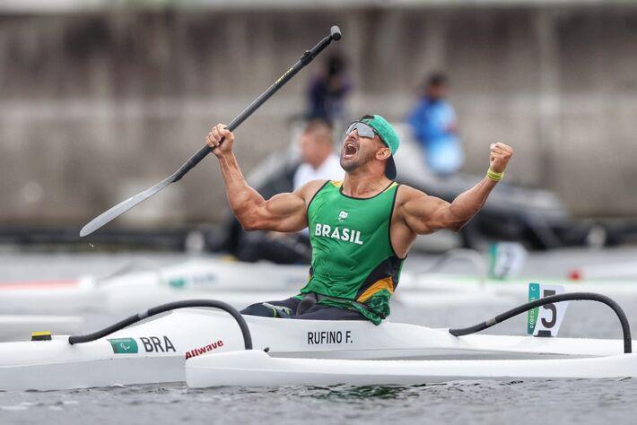 Jogos Paralímpicos Tóquio 2020  Fernando Rufino conquista o ouro na categoria VL2 200m da Canoagem Velocidade em Sea Forest Waterway. Foto: Miriam Jeske/CPB.