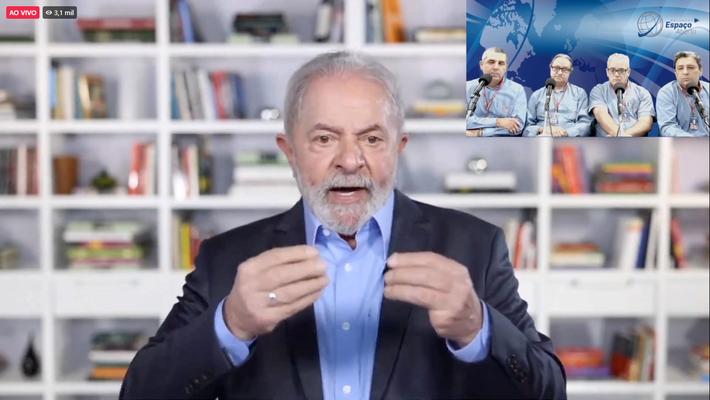 Esse é Lula em entrevista à Rádio de MS. Foto: Grande FM 92,1