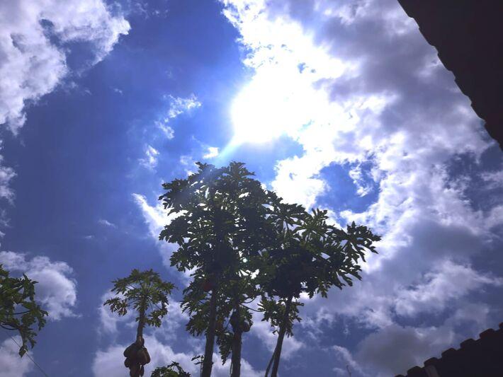 Céu em Campo Grande durante esta quarta-feira (13.out).