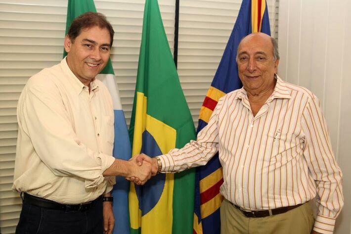 Prefeito Alcides Bernal (PP) e secretário Pedro Chaves