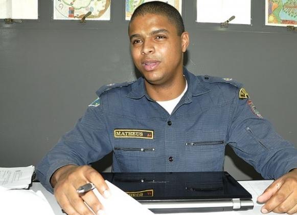 Comandante Matheus Mychell Custodio Taniguchi<br />Foto: Região News
