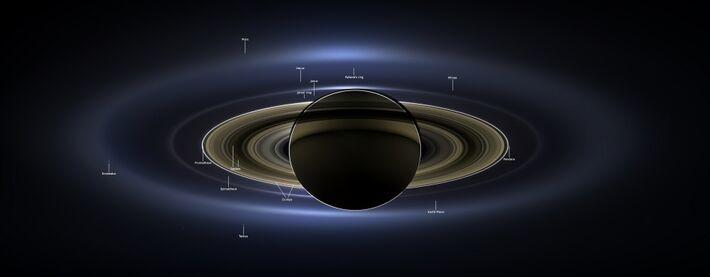 Saturno<br />Autor: Nasa via Fotos Públicas