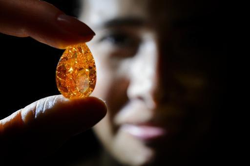 Diamante laranjado<br />Foto: Divulgação