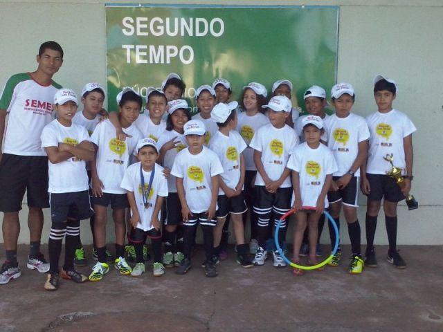 Alunos do Programa Segundo Tempo<br />Foto: Divulgação