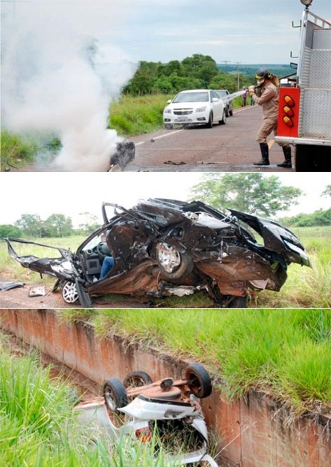Homens do Corpo de Bombeiros e da Policia Militar de Bataguassu atenderam a ocorrência, a PRE (Policia Rodoviária Estadual) e o núcleo de Pericia de Nova Andradina foram acionados.