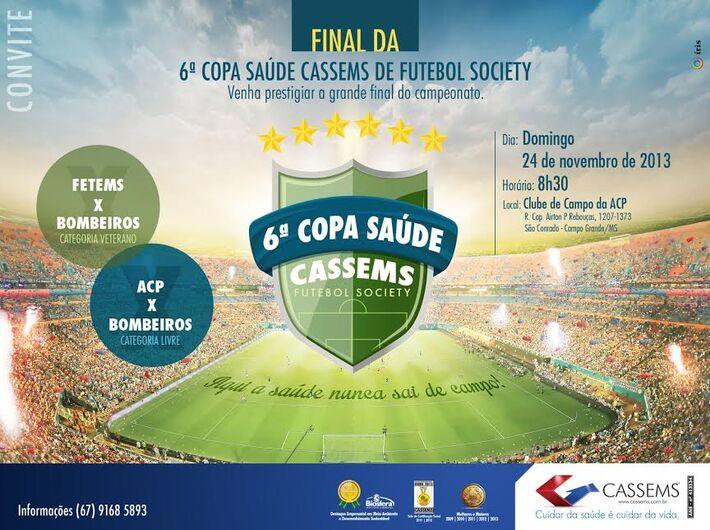 <br />Incentivo à prática esportiva e atividade física, foi com esse propósito que, em 2008, o atual presidente da Cassems, Lauro Sérgio Davi deu início à Copa Saúde Cassems de Futebol Society.