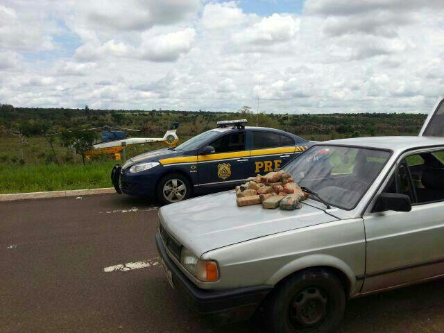 Segundo o condutor do carro, a droga saiu de Corumbá e o destino seria Uberlândia.