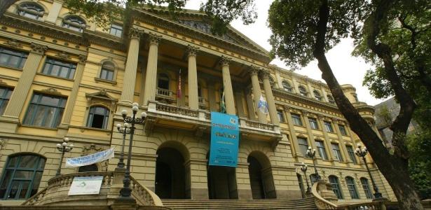 Fachada do prédio da Biblioteca Nacional na avenida Rio Branco, no centro do Rio de Janeiro<br />Foto: Divulgação